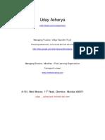 Contemporary Acharya Netspeaks Ancient Wisdom - interviews in Times of India and Mumbai Mirror