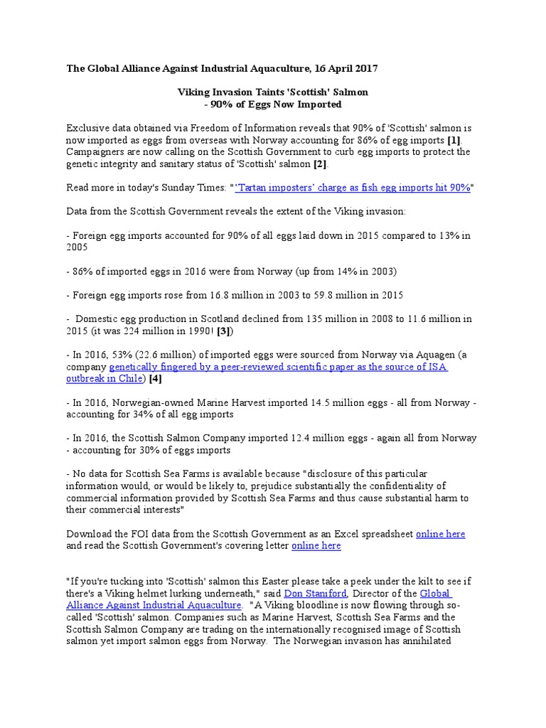 Viking Invasion Taints Scottish Salmon | Salmon | Scotland