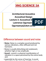 Bld Science 3A Lectures 03 Acoustical Design