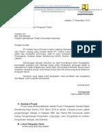 Surat Permohonan Uji Tanah
