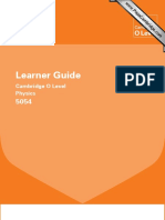 Cambridge Learner Guide for o Level Physics
