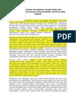 Hubungan antara manajemen modal kerja dan profitabilitas perusahaan yang terdaftar di bursa efek athena