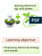 2.5 Analysing Electrical Energy and Power
