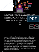 How to Decide on a Corporate Website Design Dubai Company for Your Business Website