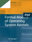 Formal Models of Operating System Kernels