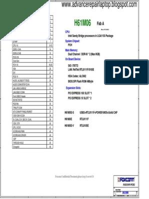 foxcconn H61M06-6LS3H(H61 MXE) pdf | Computer Hardware