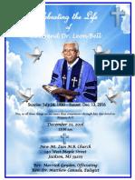 Rev. Bell Funeral Program 2016
