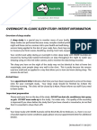 Form - Overnight Sleep Study Information