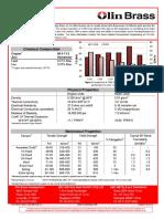 Olin Brass Copper Alloy C260 Data Sheet
