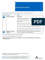 CIE IGCSE Biology 2019 Syllabus Update (344213)