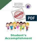 Students Accomplishment