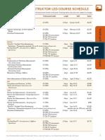 2015 PETEX Schedule