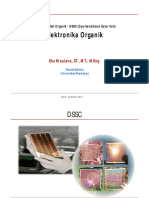 04 Elektronika Organik Solar Sel Organik DSSC Dye Sensitized Solar Cells
