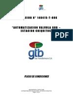 007 Pliego 140415-T-086 Automatizacion Valvula Gob- Estacion Chiquitos