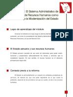 Modulo 1 El Sistema Administrativo de Rrhh Como Parte de La Modernizacion Del Estado
