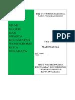Try Out Matematika Terbaru 2013 (Tugas Dinas)