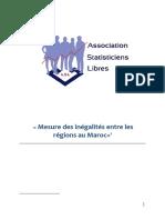 Synthèse Du PFE Mesure Des Inégalités Entre Les Régions Au Maroc |  Association Des Statisticiens Libres | ASL