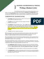 Business_Letter_Handout -- Major Rev