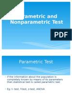 Parametric vs Non Parametric Stats