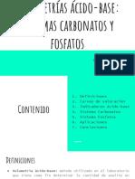 Volumetrías Ácido-base Sistemas Carbonatos y Fosfatos (1)
