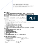 Specificatii Tehnice Protectii LEA 1kV