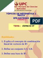 Combinacion Lineal Vectores