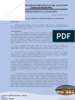 Ordenanza Municipal N°  003-INAFECTACION DE TRIBUTOS