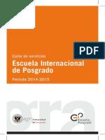 Carta Servicios - Escuela Internacional de Posgrado 2014-2015