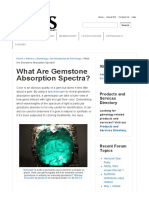 What Are Gemstone Absorption Spectra