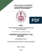 Tecnologías GTL Para La Monetización de Reservas de Gas