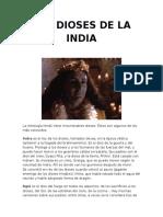 Los Dioses de La India