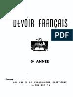 Francais 6e Devoir