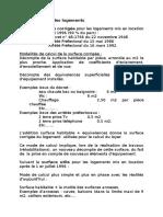 Calcul Du Loyer Des Logements