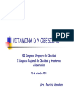 Vitamina D y Obesidad, Dra. Mendoza