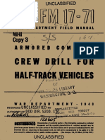 (1943) FM 17-71 Crew Drill for Half-Track Vehicles