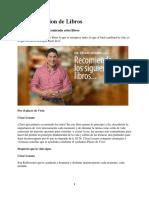 Recomendacion de Libros - DR. CESAR LOZANO.pdf