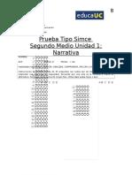 Prueba Simce 2M Unidad 1 FB 2016