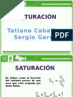 Exposicion Análisis Petrofisicos - Saturación