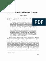 Wilhelm Roepke's Humane Economy