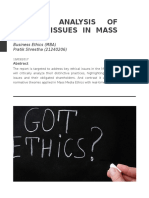 Critical analysis of Ethical Issues in Mass Media.docx