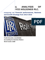 Financial analysis of Rolls royce holdings plc.docx