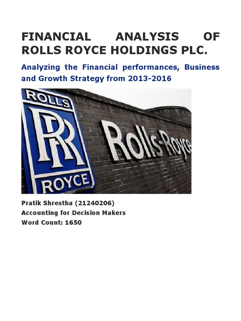 financial analysis of rolls royce holdings plc.docx | leverage