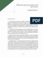 Martínez Barreiro. Elementos Para Una Teoría Social de La Moda