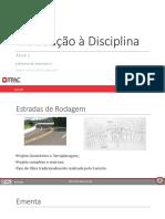 Aula 1 - Introdução à Disciplina