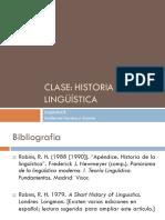 Clase Historia de La Lingueistica 2012
