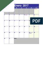 12 meses Calendario 2017 Venezuela