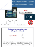 Acidos Carboxilicos e seus derivados.