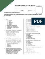 i Exame de Compras y Almacen