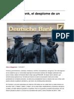 Deutsche Bank El Desplome de Un Mito Aleman