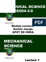 1_Introduction to Mechanical Science